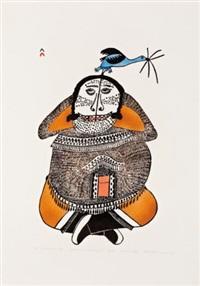 shaman's wife #42 by pitseolak ashoona