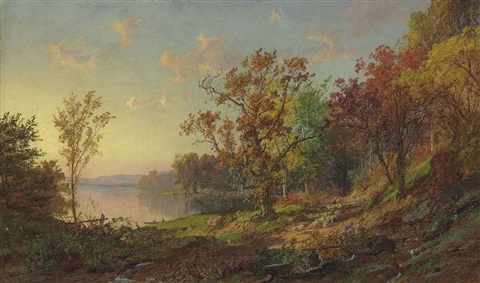 driving home the flock by jasper francis cropsey