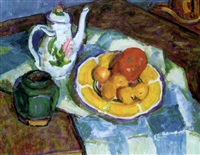 still life with coffee pot by edward le bas
