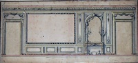 élévation d'un salon avec vases et cheminée by edmé adam