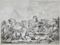 scène de la bataille de jemappes by jacques gamelin