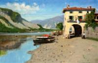 isola dei pescatori - lago maggiore by carlo pigino