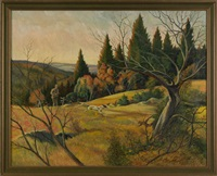 landscape with hunter by charles hepner i