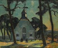 l'arrivée à la chapelle by albert raty