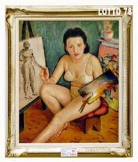 modella pittrice by giacinto de ruschi