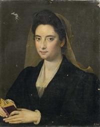 ritratto di dama con libro (lucrezia cenci) by scipione pulzone