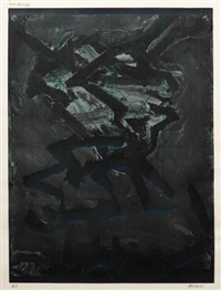 playing cards two heads of j.y.m by frank auerbach