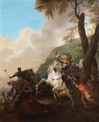 scène de bataille by herman van lin