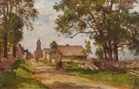 village de franche-comté by marie-victor-emile isenbart
