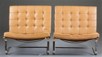 tugendhat chairs (pair) by ludwig mies van der rohe