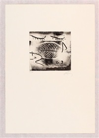 etching by antoni tàpies