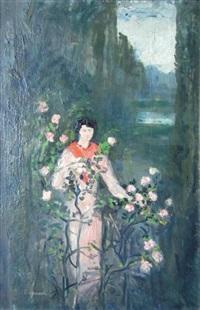 paysage avec une femme by pierre laprade
