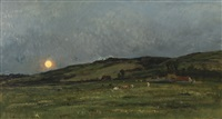 landscape with cows by charles françois daubigny