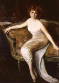 portrait de la baronne marie surcouf by princesse marie eristoff-kasak