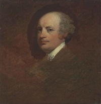portrait of counsellor john dunn, half-length by gilbert stuart