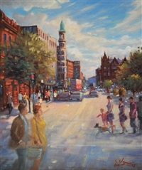 summer light, donegall square, belfast by gerry glynn