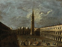 venezia, veduta di piazza san marco by francesco tironi