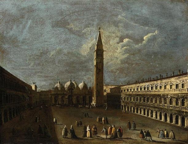 venezia veduta di piazza san marco by francesco tironi