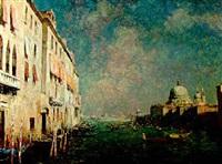el gran canal en venecia by alexander danov