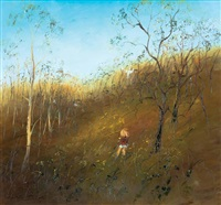 young child in the golden paddock by david boyd