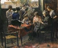 familie am tisch by hans adolf hornemann