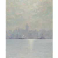 the skyscraper of 1894, new york city by william henry lippincott
