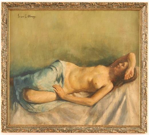 reclining nude by ivan g olinsky