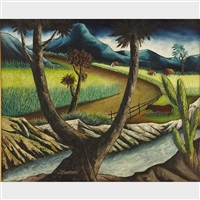 road though a haitian countryside by jean enguerrand gourque