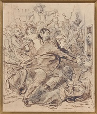 le guichet fermé by jean ignace (isidore gérard) grandville