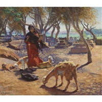 the young goat herder of shobrah, egypt by ludwig deutsch