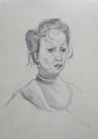 self portrait by kartika affandi