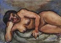 reclining nude by dox thrash
