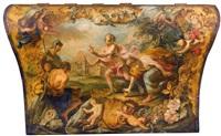hippomenes besiegt atalante im wettlauf by fedele fischetti