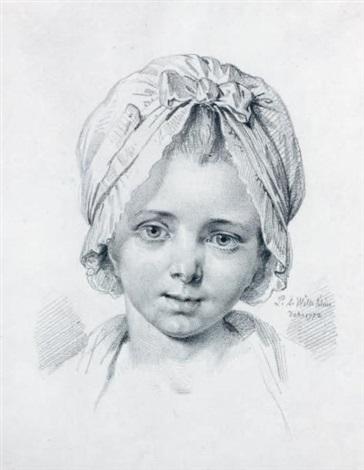 portrait de jeune fille by pierre alexandre wille