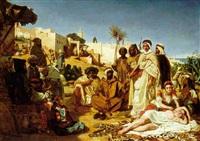 les marchands d'esclaves au faubourg babazoun a alger by ernest francis vacherot