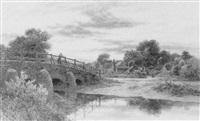 easling bridge, surrey by james macculloch