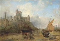peel castle, isle of man by john wright oakes