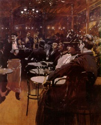 cafe scene by fernand harvey lungren