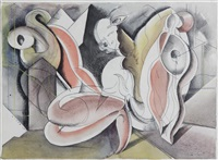 untitled- abstract figures by henry george glyde
