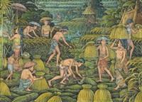 potong padi (harvest) by i ketut sepi