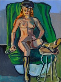 nude with cap by stewart angus macfarlane