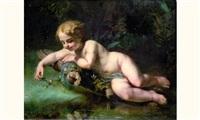 jeune enfant tenant une libellule by charles fournier