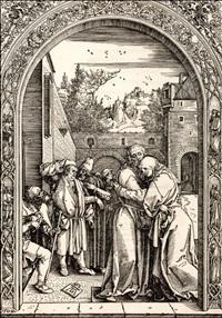 joachim and anna at the golden gate by albrecht dürer