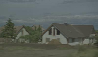 vilinus - klaipeda unfinished blurred house (from oblique) by knut åsdam