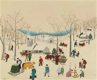 maple orchard by grandma moses