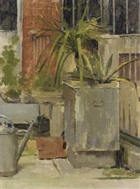 a garden still life by theodore robinson