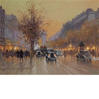 street in paris by paul renard