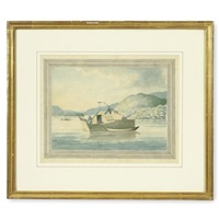 flat boat on the mississippi by william constable