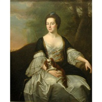 portrait of mrs. kilhenery with her lap dog by francis cotes