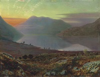 near lake windermere, cumbria by john atkinson grimshaw